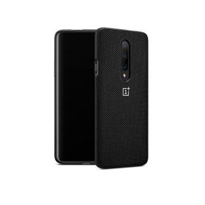 Original oneplus 7 Pro case original accessory Cabernet nylon bumper cover - Black