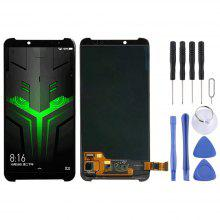 Premium Quality LCD Screen and Digitizer Full Assembly for Xiaomi Black Shark Replacement Part Color : Black Black