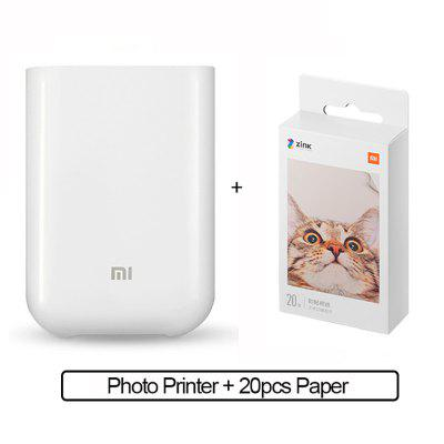 Xiaomi mijia AR Printer 300dpi Portable Photo Mini Pocket With DIY Share 500mAh picture printer pocket printer With Print Paper