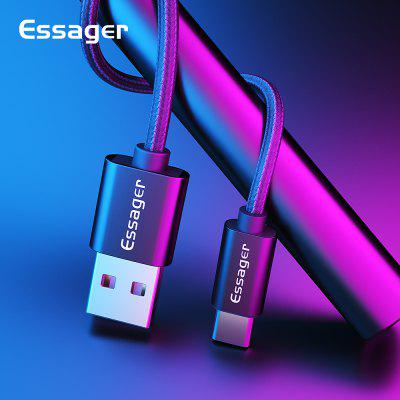 Essager 3A USB Type C Cable Fast Charging For Samsung Xiaomi Note 10 Sync Data Cable Quick Charge