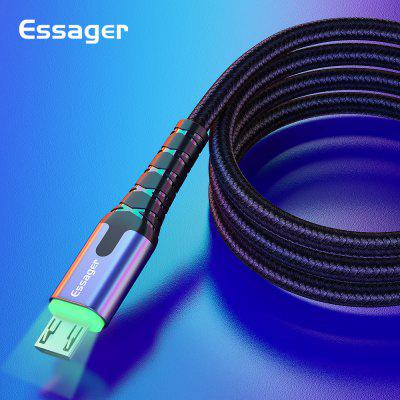 Essager LED Micro USB Cable 3A Fast Charging Data Mobile Phone Cord 2m 3m Charger Cable