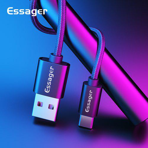 Essager 3A USB Type C Cable Fast Charging For Samsung S10 S9 Sync Data Cable Quick Charge 3.0