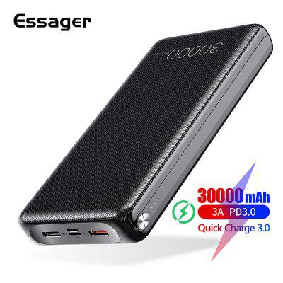 Essager 30000mAh Power Bank Quick Charge 3.0 PD QC3.0 USB C 30000 mah For Xiaomi External Battery