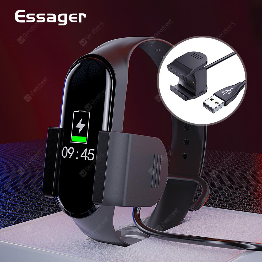 Essager Charger Cable For Xiaomi Mi Band 4 Fast Charging Charge USB Cable Adapter Cord Accessories - Black