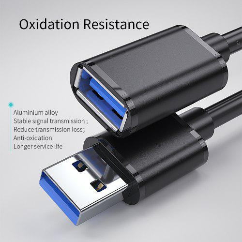 Essager Male to Female USB Extension Cable USB 3.0 Cable  For PS4 SSD 5GB USB3.0 Extender Data Cord