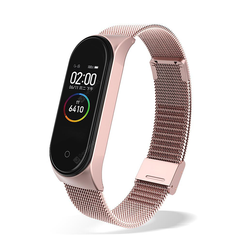 Essager Plating Metal Strap For Xiaomi Mi Band 3 4 Wristband Wrist Bracelet For Band4 Band3 - Pink China For mi band 4