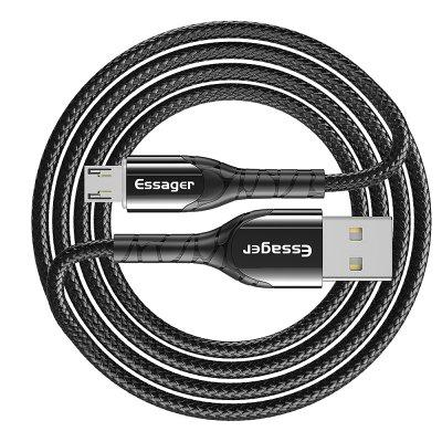 Essager LED Micro USB Cable 2.4A Fast Charging Micro Data Cable For Samsung Mobile Phone Cable