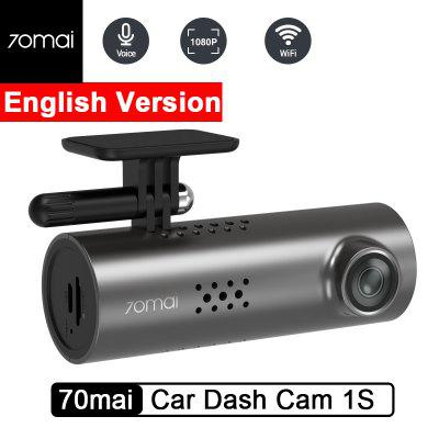 70mai Car Dash Cam 1S English Voice Control 1080P HD Night Vision-Xiaomi Ecosystem Product