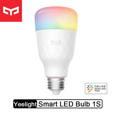 Yeelight RGB LED Lâmpada de cor inteligente 1S 8.5W Lâmpadas inteligentes WiFi com Mi Home Apple Homekit