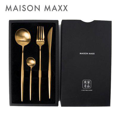 Maision Maxx Stainless Steel Tableware Set Knife Spoon Fork Tea-spoon 4 Kit Xiaomi Ecosystem Product