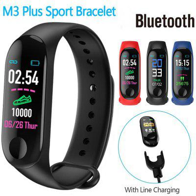 M3 Plus Smart Sports Bracelet Bluetooth Heart Rate Blood Pressure Monitor Fitness Tracker Smart Band