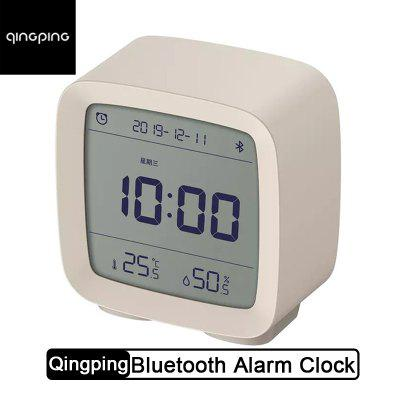 Qingping Bluetooth Alarm Clock Temperature Humidity Sensor Night LCD Light From xiaomi youpin