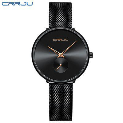 CRRJU Women Watches Luxury Ladies Quartz Watch Fashion Minimalist Waterproof Band Watches