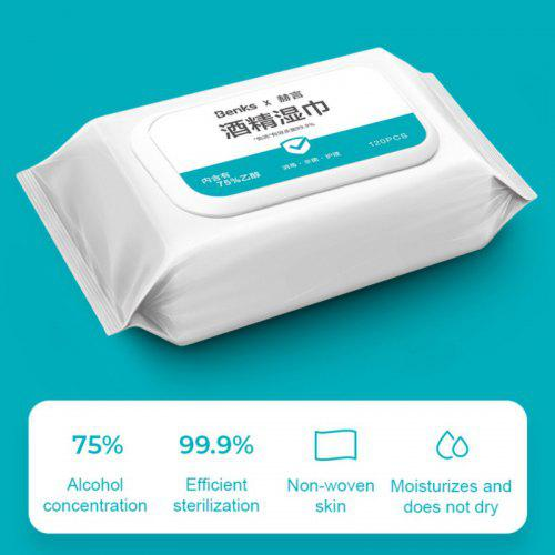 75 Percent Alcohol Wipes Disinfection Sterilization Portable Wipes Antibacterial Cleaning Home