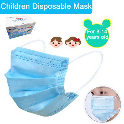 50PCS Children Disposable Protective Mask Applicable to 8-14 years old Children Protection