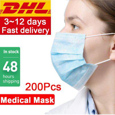 DHL Express Shipping Disposable Medical Mask 3-Ply Anti-Dust Surgical Face Mouth Anti-bacteria Masks