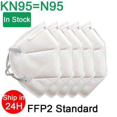 10PCS KN95 N95 Respirator Face Mask Disposable Breathable Protective Not Medical Masks for Health