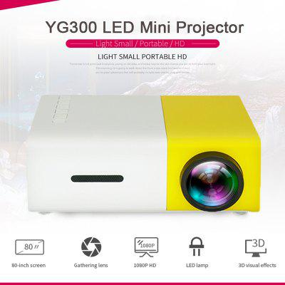 YG300 LED Mini Projector 320x240 Pixels Supports 1080P HDMI USB Portable Projector Home Video player