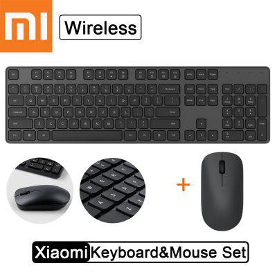 Xiaomi 2.4G Wireless Keyboard & Mouse Set Thin Portable mute Office Game 104Keys USB Mouse Set