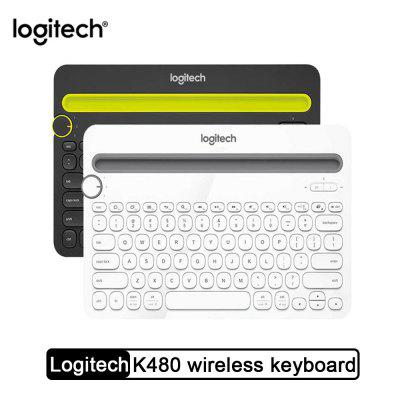 Logitech K480 Portable Wireless Bluetooth Keyboard with Multi-Device Switchable for PC Mac OS iOS