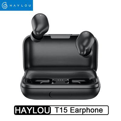 Original Haylou T15 2200mAh Touch Control Wireless Headphones HD Stereo Noise Lsolation Bluetooth Earphones With Battery Level Display