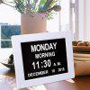 8 inch White LED Dementia Digital Calendar Clock Extra Large Day-Week-Month-Year