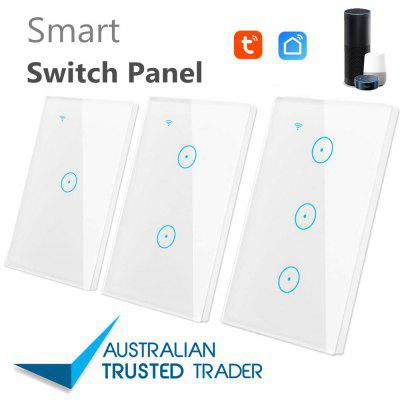 AU US Standard Smart home Automation WIFI LED Light Switch glass panel -Smart Life