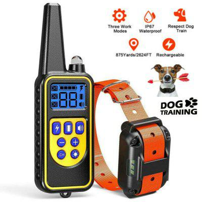 800m Remote Pet Dog Training Collar Rechargeable Electric Shock LCD Display IP67