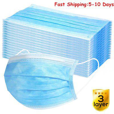 50 Pcs Disposable Face Mask Mouth Masks Anti Flu Virus Protection 3 PLY Earloop Fast Free Shipping