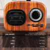 Retro Bluetooth Speaker Music Player Vintage Wooden Speakers With Mic
