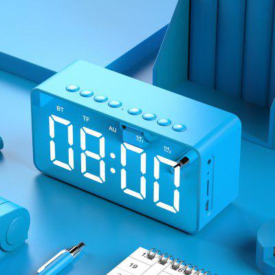 BT506 LED Speaker Mirror Alarm Clock with Wireless Bluetooth for Office Bedroom