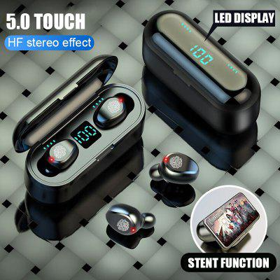 Bluetooth Earphone LED Display Power Bank Bluetooth 5.0 Headset With Microphone