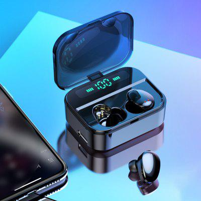 X7 TWS Touch Earphone Wireless Earbuds Bluetooth 5.0 IPX7 Waterproof with 2200mAh LED Power Bank