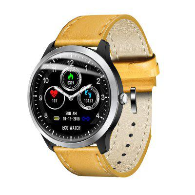 N58 Smart Watch ECG Monitoring Blood Pressure Heart Rate Test Leather Strap Sports Watches