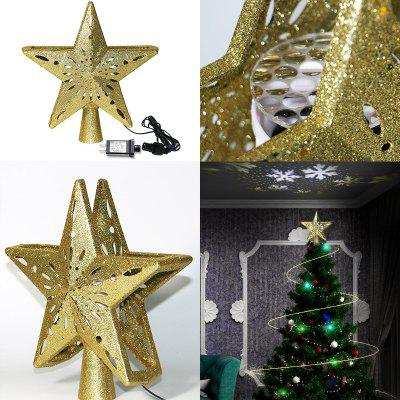 LED Christmas Tree Star Decoration Snowflake Projector Laser Light Christmas Decorations For Home