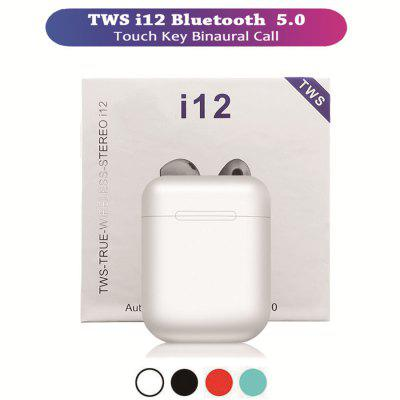 I12 tws Wireless Bluetooth Earphone Headset Potable Stereo Hifi Bluetooth 5.0 Touch Control Earbuds