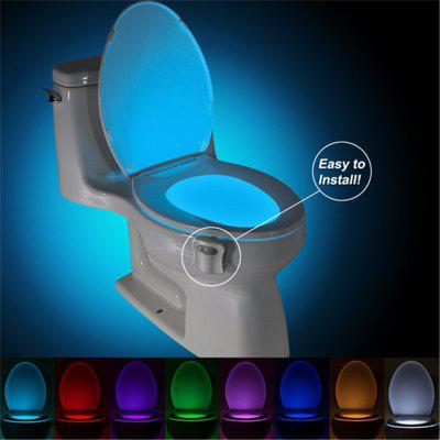 LED Toilet Nightlight Motion Sensor Activated Light Toilet Seat LED Lamp Bowl Bathroom Nightlight