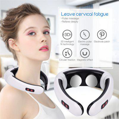 Electric Neck Massager Cervical Vertebra Instrument Acupuncture Magnetic Therapy Neck Treatment