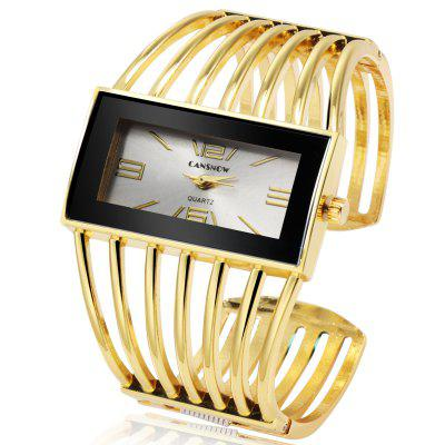 Stylish Bracelet Watch Women Rose Gold Quartz Watches Rectangle Dial Clock Watch For Lady Girls