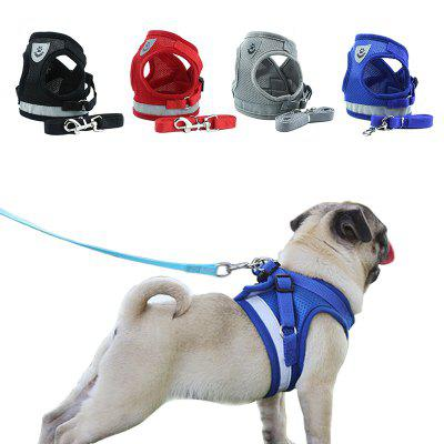 Pet Adjustable Leash Dog Puppy Vest Reflective Light Leash Pet Harness Straps For Dog