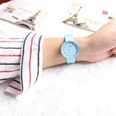 Women Watches Silicone Wristwatch Casual Dress Quartz Clock Watch