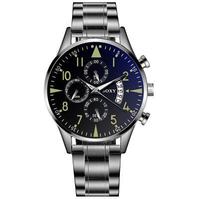 Men Business Watch Stainless Steel Quartz Watch With Calendar Analog Watches
