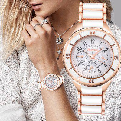 Women Retro Watches Exquisite Strap Round Dial Stainless Steel Quartz Watch Elegant Dress Watches