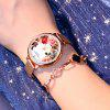 Fashion Quartz Watches for Women Lady Retro Flower Dial Watch Rose Gold Mesh Band Dress Watch