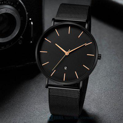 Black Wrist Watch Men Watches Male Business Style Wristwatches Stainless Steel Quartz Watch For Men