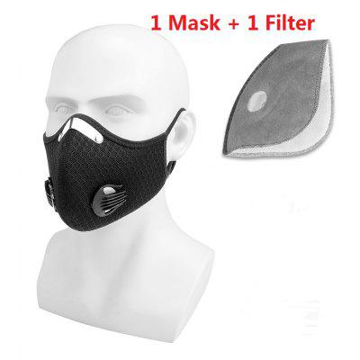 Anti-Haze Mask Outdoor Sports  Men and Women Mesh Mask Bicycle Dust KN95 Non-Medical Mask