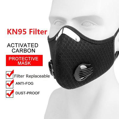Cycling Masks Outdoor Running Anti-Haze Mesh Mask Bicycle Dust Non-Medical Mask with KN95 Filter