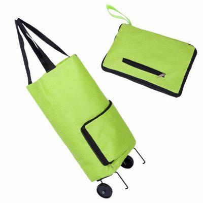 Фото - 2020 Fashion Folding Home Trolley Shopping Bag With Wheels Reusable Portable Eco-friendly Storage Totes Large Handle Bags ladies large tote bags for women genuine