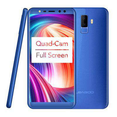 LEAGOO M9 3G Smartphone  Four-Cams Android 7.0 MT6580A Quad Core  2850mAh Fingerprint Mobile Phone Image