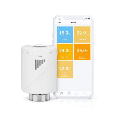 Meross Smart Radiator Thermostat works with Alexa Google Home Wireless Hub Required